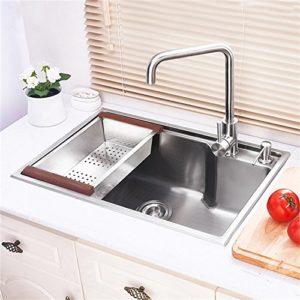 キッチン用流し台(蛇口なし) 台所の流し台 手作りシンク #304ステンレス製流し台