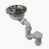 SH: 薄型排水部品SUS180Φ(ステンレス蓋セット)